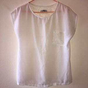 ROMY white sheer top